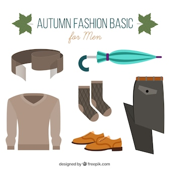 Autumnal accessories and clothing