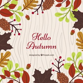 Осенний фон с красочными элементами