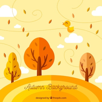 Autumnal background with trees
