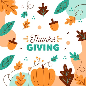 Autumnal design thanksgiving background