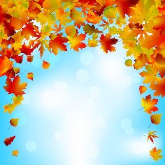 Осеннее небо яркий дизайн.