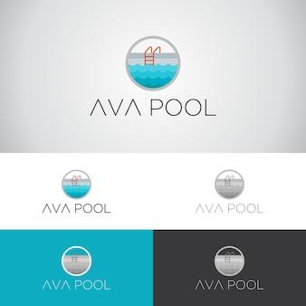 Шаблон дизайна логотипа ava pool