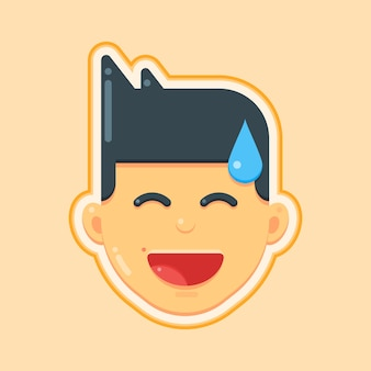 Avatar icon of smiley face man