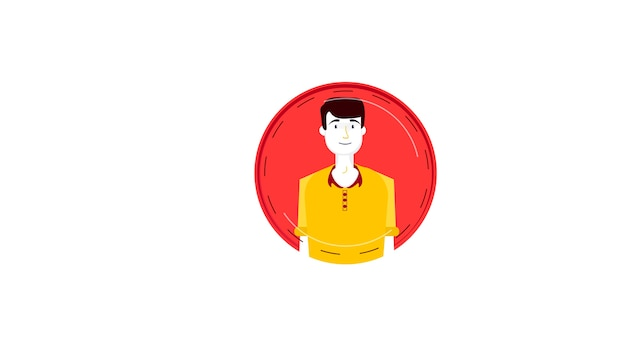 Avatar isolated vector illustration