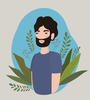 男のデザイン、少年男性人人人間のソーシャルメディアと肖像画のテーマベクトル図のアバター