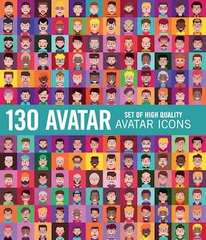 Avatar set of stylized people
