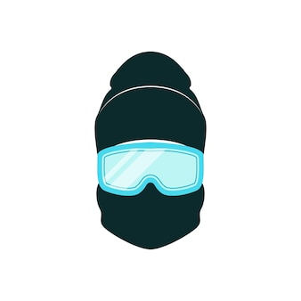 Avatar snowboarder with winter hat and blue goggles