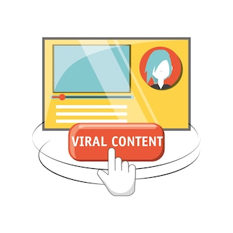Avatar viral content page and cursor icon