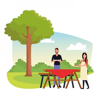 Avatar woman and man eating sandwiches