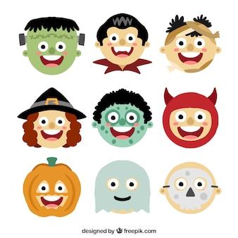 Avatars of children dressed