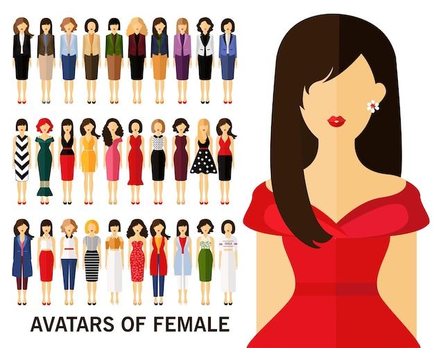女性の概念の背景のアバター