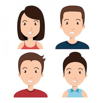 Аватары люди дизайн