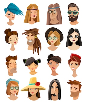 Avatars set in cartoon style