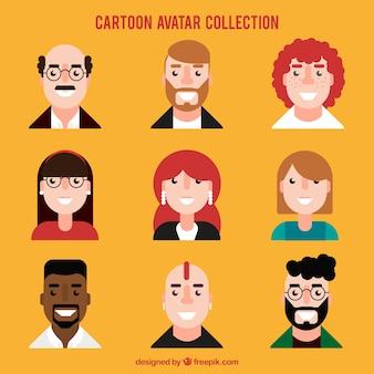 Avatar di persone in design piatto