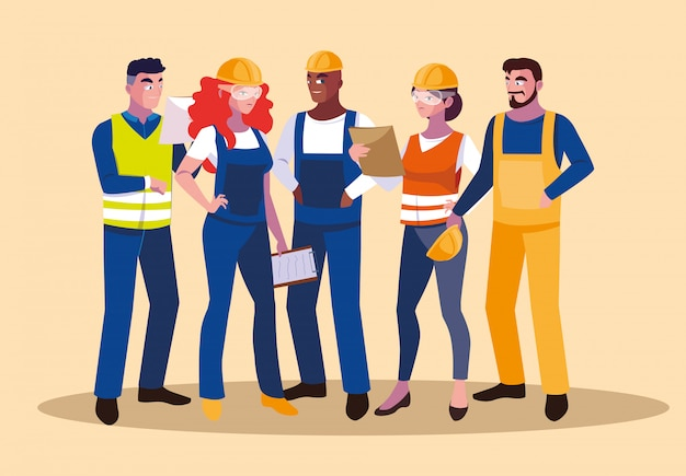 Avatars set of professional workers