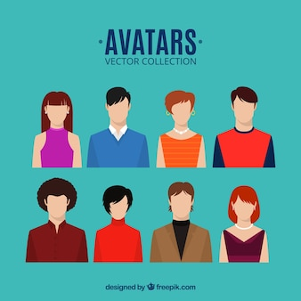 Avatars vector collection Free Vector