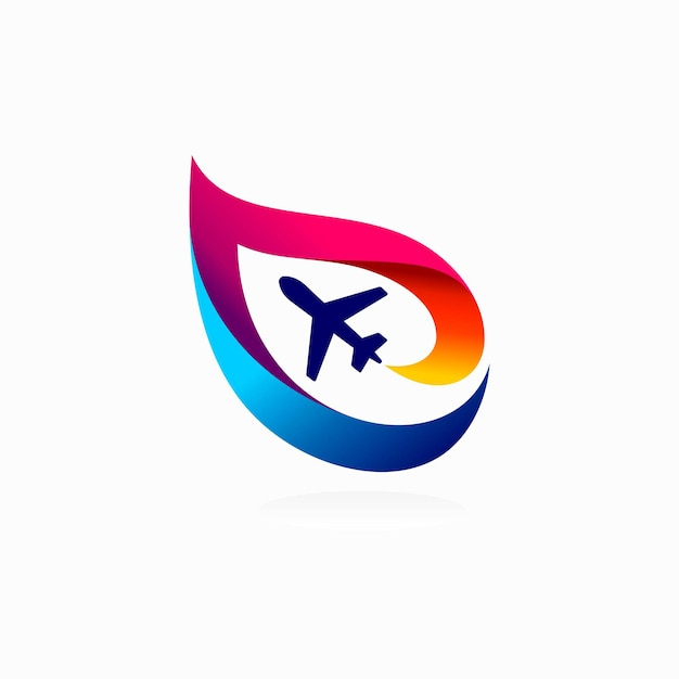 Aviation logo with colorful concept