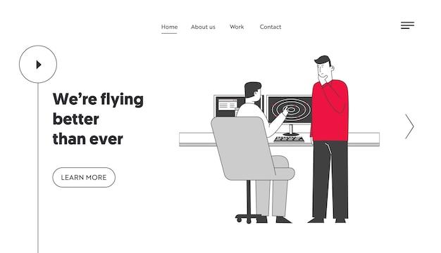 Шаблон целевой страницы персонажей авиационных рабочих