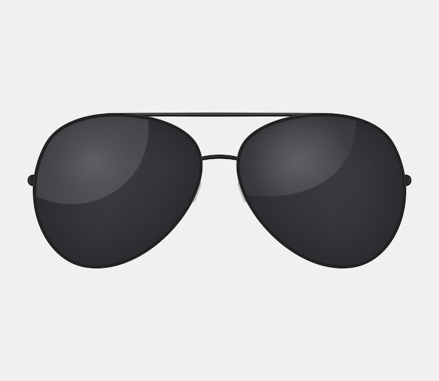 Aviator police isolated sunglasses .