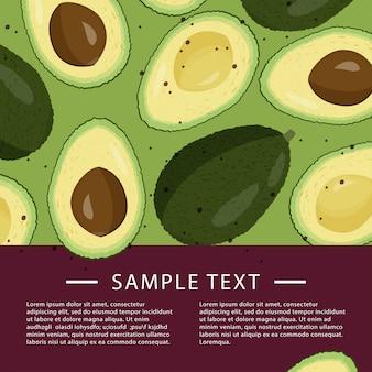 Avocado card template.