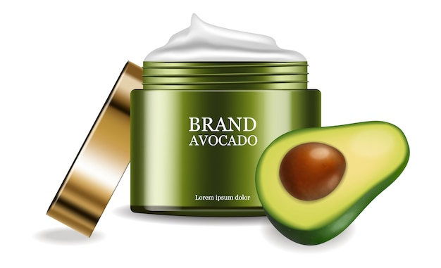 Avocado cream product placement package