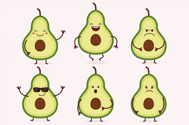 Avocado fruit character set