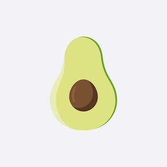 Avocado fruit logo template, healthy food symbols