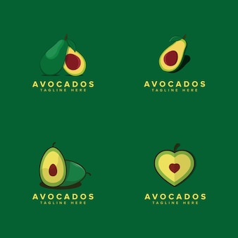 Avocado fruit logo template