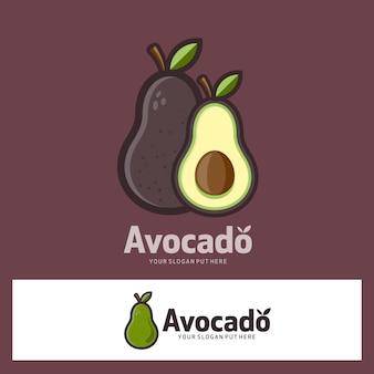 아보카도 과일 로고