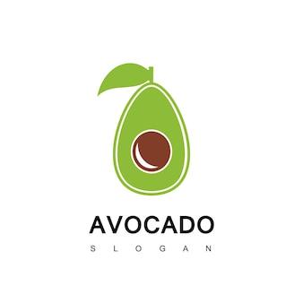 Avocado logo design vector