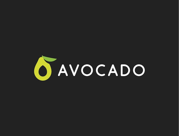아보카도 로고 템플릿, 아이콘, 현대적인 디자인.