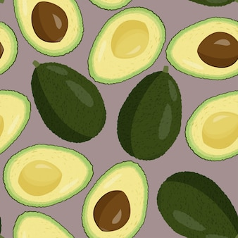 Avocado pattern.
