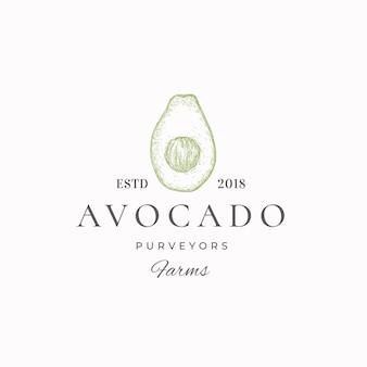 Зеленая этикетка поставщиков авокадо