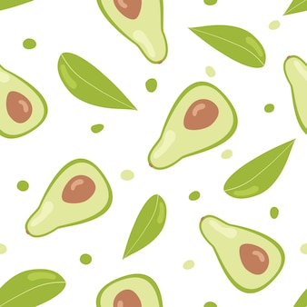 Avocado seamless pattern.
