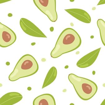 Avocado seamless pattern.