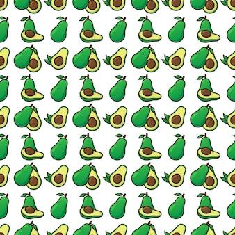 Бесшовный фон авокадо