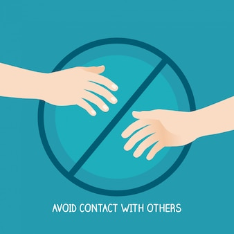 Avoid contact of hands with others to prevention