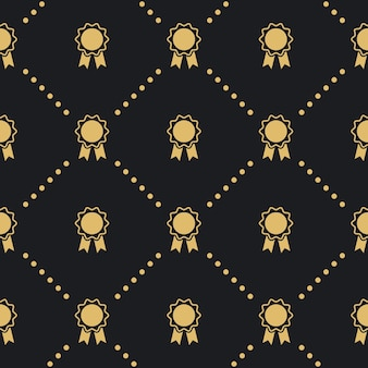 Award badge seamless pattern. design background vintage style.