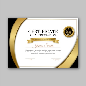 Award certificate template design