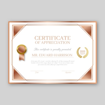 Award certificate template theme