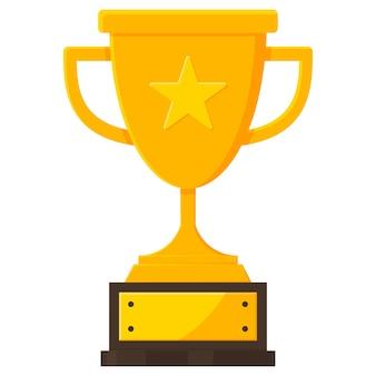 수상 우승 트로피 컵 아이콘입니다.