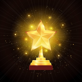 Award gold star