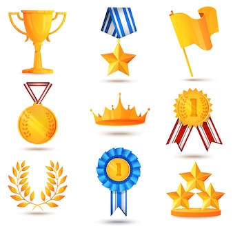 Award icons set