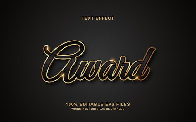 Award text style effect