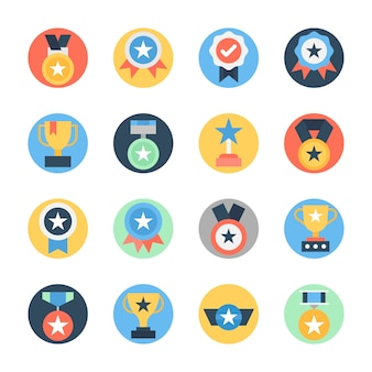 Award and trophies icons pack