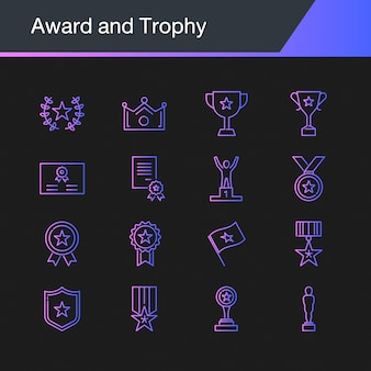 Award and trophy icons