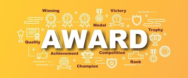 Award vector trendy banner