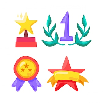Award and winner symbol in sport, show business and life