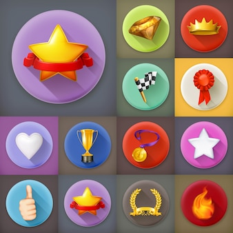 Awards and achievement icons