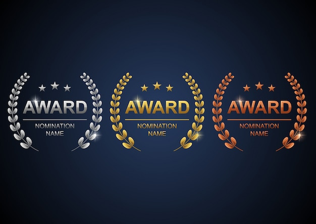 Awards logotype set